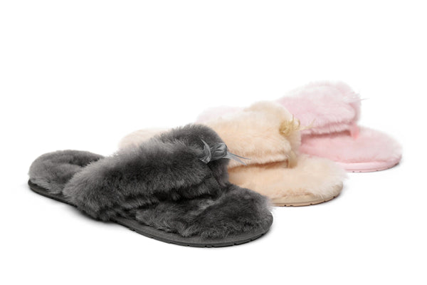 Slippers - AS UGG Women Fluffy Slides Thongs Cinderella ?id=14128838246458