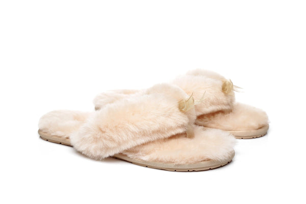 Slippers - AS UGG Women Fluffy Slides Thongs Cinderella ?id=14128838377530