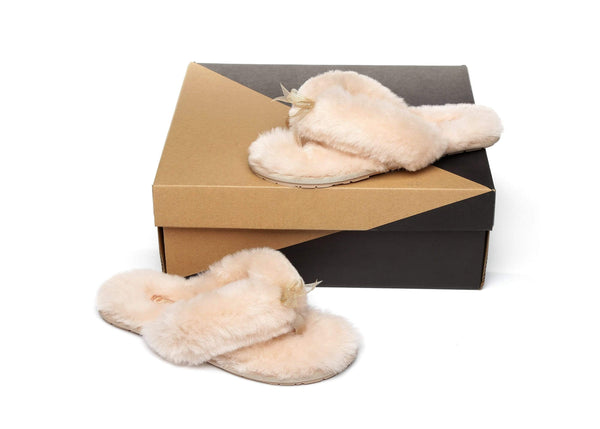 Slippers - AS UGG Women Fluffy Slides Thongs Cinderella ?id=14128838836282