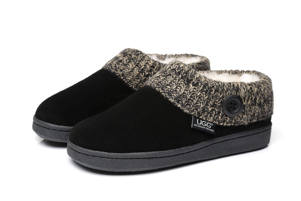 AS Unisex Knit Collar Ugg Ankle Slippers