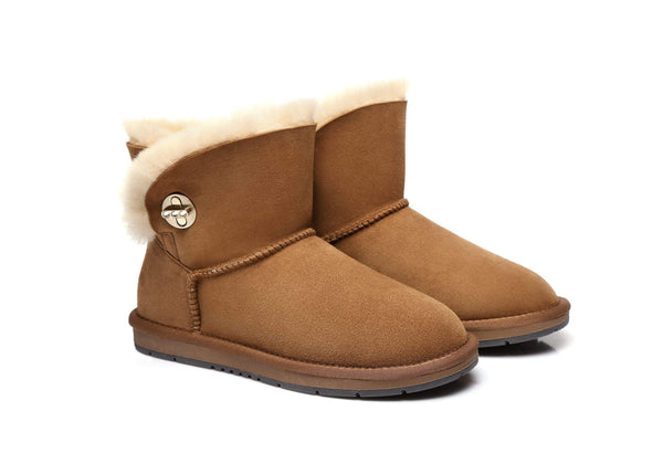 UGG Boots - AS UGG Metal Turn Button With Crystal Mini Boots Layton #15560 (1787585331258)