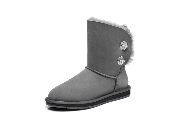 UGG Boots - AS UGG Metal Turn Button With Crystal Short Boots Layton #15561 (1787587625018)