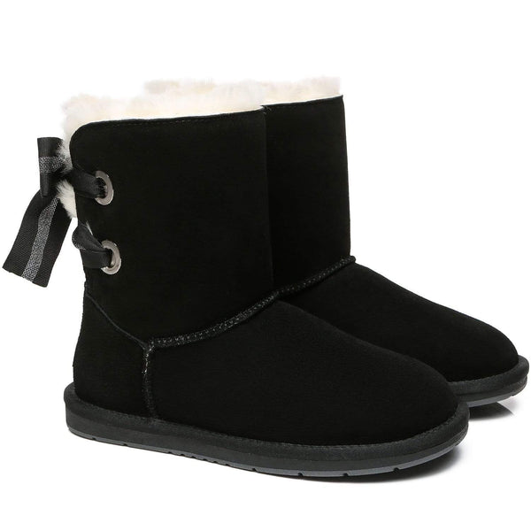 UGG Boots - AS UGG Short Boots Basia With Bailey Bow ?id=14591252627514