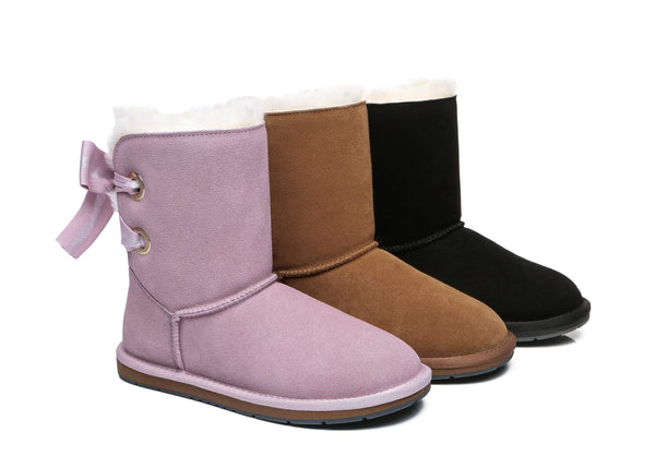 UGG Boots - AS UGG Short Boots Basia With Bailey Bow ?id=14591251251258