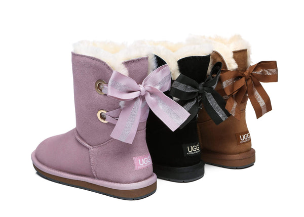 UGG Boots - AS UGG Short Boots Basia With Bailey Bow ?id=14591251611706