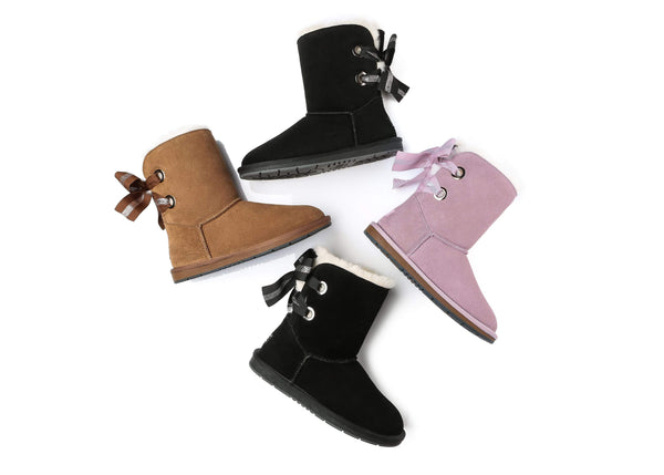 UGG Boots - AS UGG Short Boots Basia With Bailey Bow ?id=14591251677242