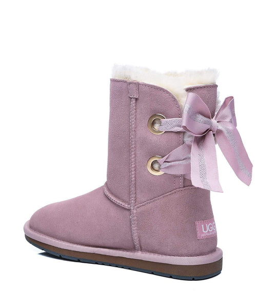 UGG Boots - AS UGG Short Boots Basia With Bailey Bow ?id=14591252103226