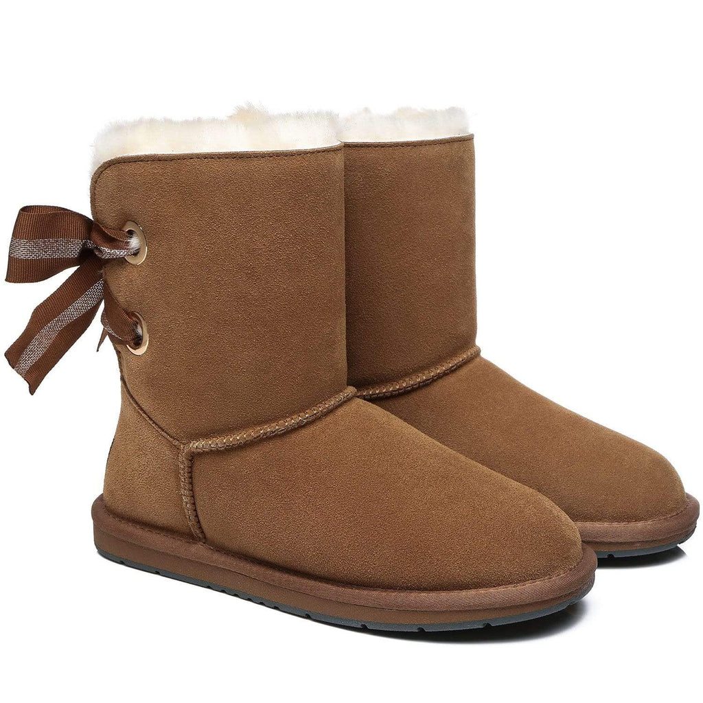 UGG Boots - AS UGG Short Boots Basia With Bailey Bow ?id=14591252135994