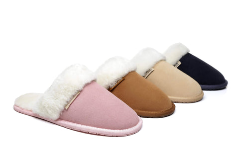 AS UGG Sheepskin Wool Slipper Lassie
