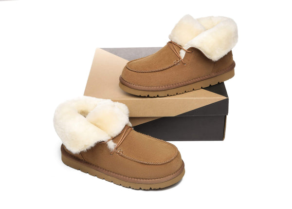 UGG Boots - AS Women Mini Ugg Alaina Casual Ankle Ugg Boots With Wool Collar ?id=14532595974202