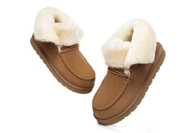 UGG Boots - AS Women Mini Ugg Alaina Casual Ankle Ugg Boots With Wool Collar ?id=14532596334650