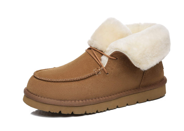 UGG Boots - AS Women Mini Ugg Alaina Casual Ankle Ugg Boots With Wool Collar ?id=14532596564026