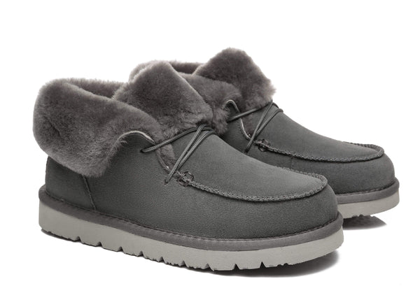UGG Boots - AS Women Mini Ugg Alaina Casual Ankle Ugg Boots With Wool Collar ?id=14532597022778