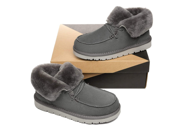 UGG Boots - AS Women Mini Ugg Alaina Casual Ankle Ugg Boots With Wool Collar ?id=14532597121082