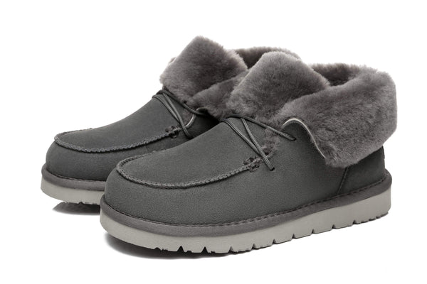 UGG Boots - AS Women Mini Ugg Alaina Casual Ankle Ugg Boots With Wool Collar ?id=14532597743674