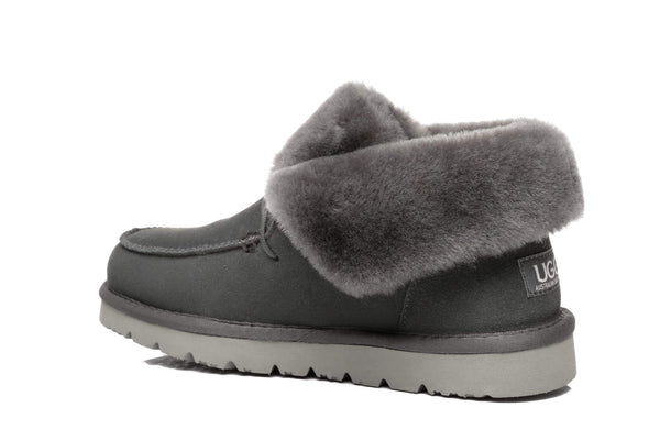 UGG Boots - AS Women Mini Ugg Alaina Casual Ankle Ugg Boots With Wool Collar ?id=14532598104122