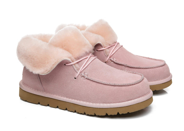 UGG Boots - AS Women Mini Ugg Alaina Casual Ankle Ugg Boots With Wool Collar ?id=14532598202426