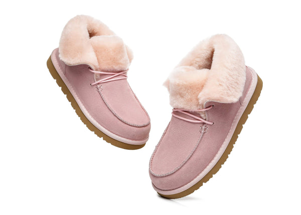UGG Boots - AS Women Mini Ugg Alaina Casual Ankle Ugg Boots With Wool Collar ?id=14532598497338