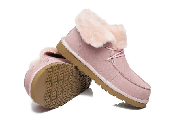 UGG Boots - AS Women Mini Ugg Alaina Casual Ankle Ugg Boots With Wool Collar ?id=14532598530106