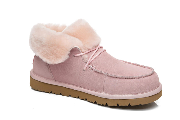 UGG Boots - AS Women Mini Ugg Alaina Casual Ankle Ugg Boots With Wool Collar ?id=14532598562874