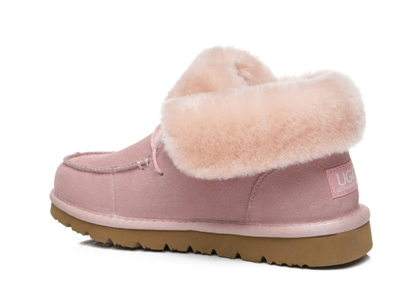 UGG Boots - AS Women Mini Ugg Alaina Casual Ankle Ugg Boots With Wool Collar