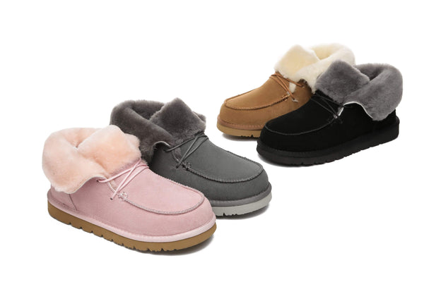 UGG Boots - AS Women Mini Ugg Alaina Casual Ankle Ugg Boots With Wool Collar ?id=14532595318842