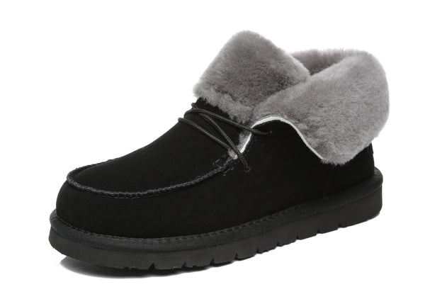 UGG Boots - AS Women Mini Ugg Alaina Casual Ankle Ugg Boots With Wool Collar ?id=14532595580986