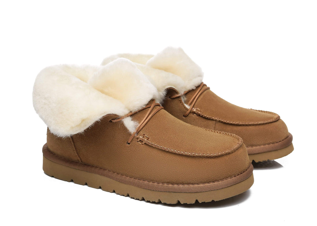 UGG Boots - AS Women Mini Ugg Alaina Casual Ankle Ugg Boots With Wool Collar ?id=14532595646522