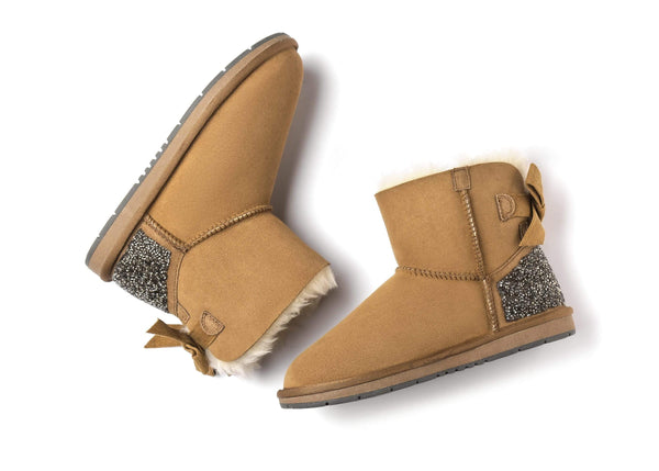 Womens Mini Back Bow UGG Boots Catherin