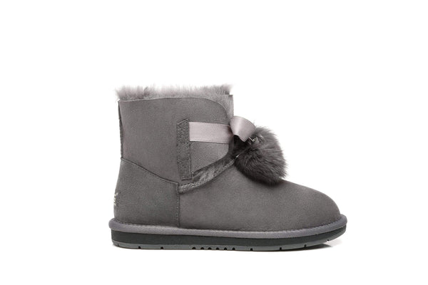 UGG Boots - Ever UGG Ladies Mini Boots With Ribbon Pom Pom Gia #15664 (532865253434) ?id=7932568928314