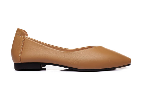 UGG Boots - Everly Leather Pointed Toe Ballet Flats