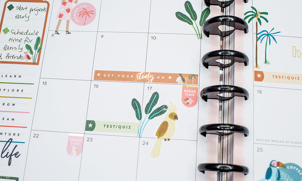 WashiGang Student monthly planner sticker book
