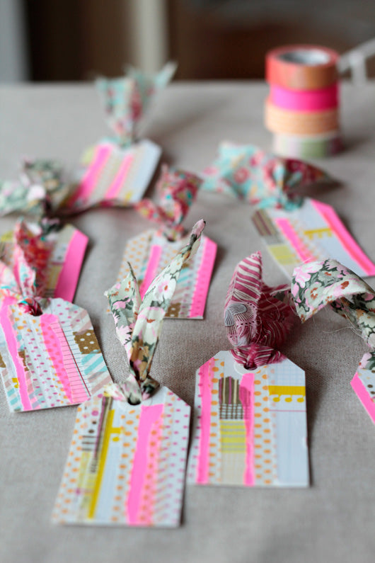 gift tags washi tape
