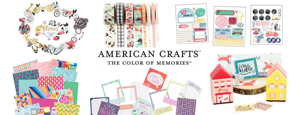 AMERICAN CRAFTS - AMY TANGERINE - ONE CANOE TWO - PINK PAISLEE - DEAR LIZZY - PAPERCRAFT SUPPLIES