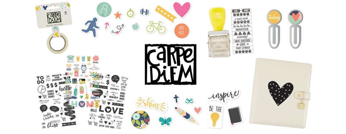 CARPE DIEM - SIMPLE STORIES - PLANNER STICKERS, WASHI TAPE, PLANNER DECALS, PLANNER STAMPS - WASHIGANG