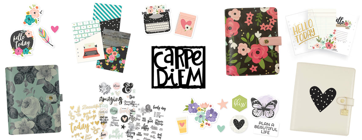 CARPE DIEM A5 PLANNERS, PERSONAL PLANNERS, SPIRAL PLANNERS & TRAVELER'S NOTEBOOKS - WASHIGANG AUSTRALIA