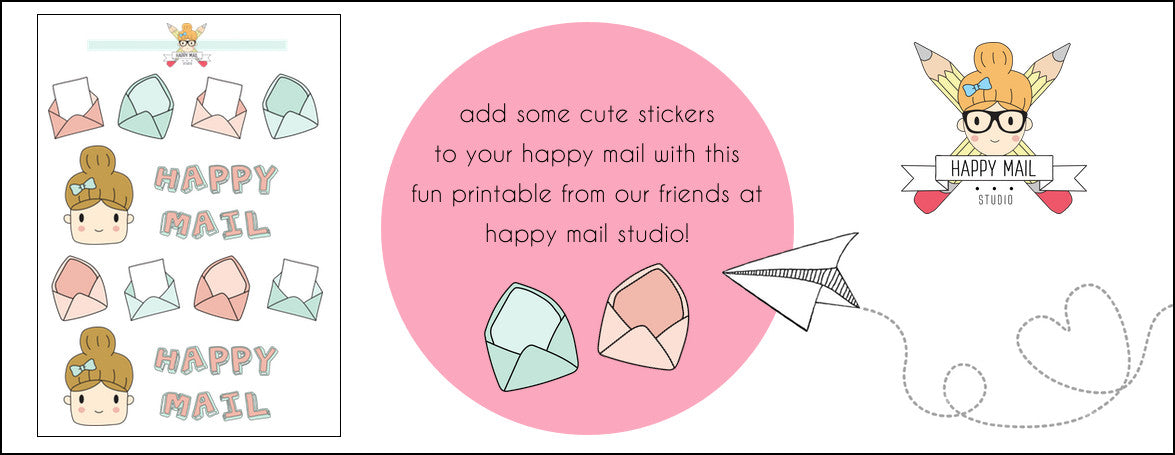 FREE PRINTABLE STICKERS - HAPPY MAIL STUDIO - FREE DOWNLOAD - PLANNER STICKERS - WASHIGANG AUSTRALIA