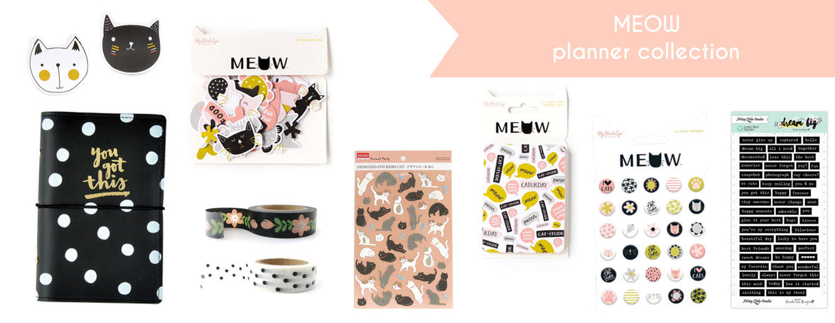 PLANNER COLLECTION - MEOW - PLANNER ACCESSORIES - WASHIGANG AUSTRALIA