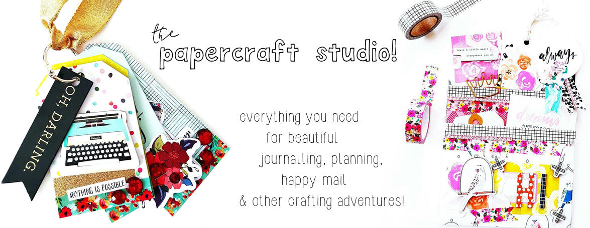 PAPERCRAFT STUDIO - DIE CUTS, PAPER PACKS, SCRAPBOOKING SUPPLIES, STICKERS, STAMPS - WASHIGANG AUSTRALIA
