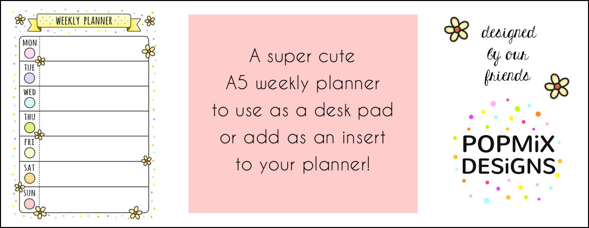 FREE PRINTABLE WEEKLY PLANNER - POPMIX DESIGNS - WASHIGANG