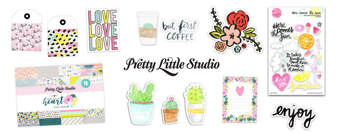 PRETTY LITTLE STUDIO - CUTE STICKERS, DIE CUTS, JOURNALLING CARDS, TAGS, PAPER PACKS - WASHIGANG