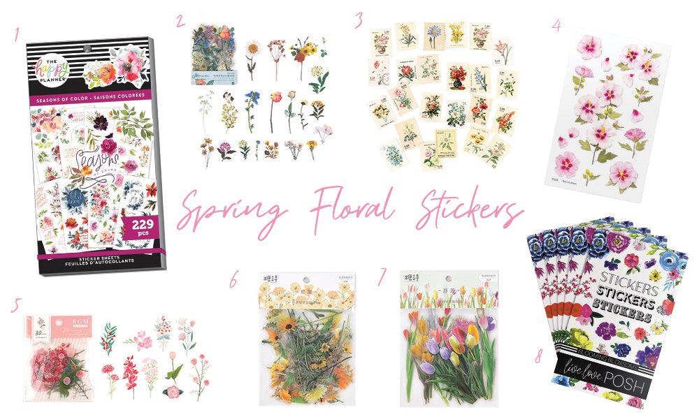 Spring Floral Stickers WashiGang