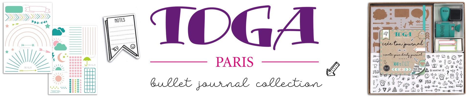 TOGA PARIS BULLET JOURNAL COLLECTION, WASHIGANG AUSTRALIA