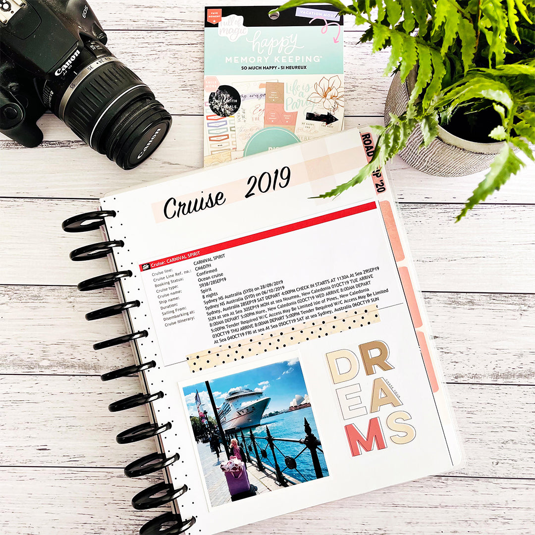 Happy Planner Memory Keeping Journal WashiGang Guest Blogger Pages by KC