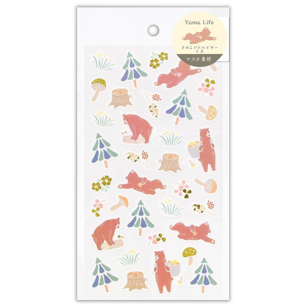 YAMA LIFE WASHI PAPER STICKERS : BEAR