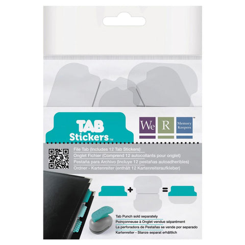 FILE TAB STICKERS : 12PK