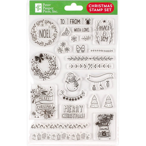 CHRISTMAS CLEAR STAMPS