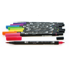 DUAL BRUSH PENS 10PK : BRIGHT COLOURS