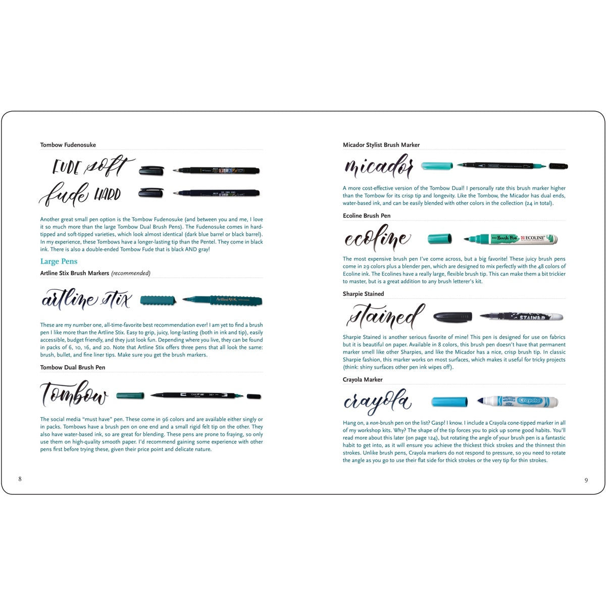 BRUSH LETTERING FROM A TO Z : EMMA WITTE