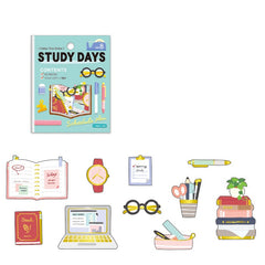WASHI PAPER FLAKE STICKERS : STUDY DAYS